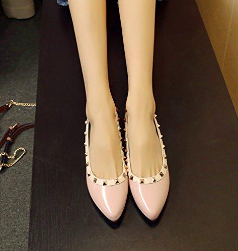 5 Donna Calzature rosa Tacco 39 Arraysa 1CM Aaaag Su Ballerine Senza Scivolare Pzx8dxw