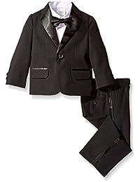 Little Boys' Tuxedo Suit Set with Bow Tie