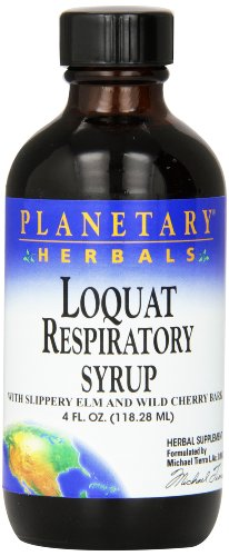 Planetary Herbals Loquat Respiratory Syrup,4 Fluid Ounce (Leaf Loquat)