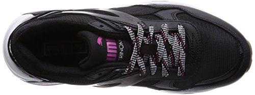 Puma R698 Basic SP Te, Baskets Basses Femme Noir (Black/Black/Carmine Rose)