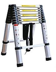 Aluminum Telescoping Ladder 13 ft, Reach 12.5ft/16ft/18ft/20ft/25ft/30ft, 150kg Max Capacity, Soft-Close System, Pinch-Free ?Multi-function household folding ladder (18.7KG/3.2M+3.2M)