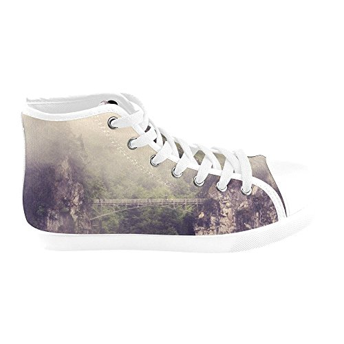 Shoes Blues Model002 Top Women Canvas Artsadd For E4 Silhouette High Xq1nO5