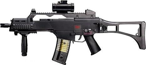 g8ds Set: HK Heckler & Koch G36 C AEG Rifle de Airsoft eléctrico (+ Walther PREMIUM Airsoft color blanco 6 mm, 0,20 g, 5000 BBS