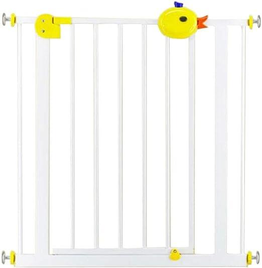 XIAOYAN- Valla de Seguridad para niños Valla de protección de escaleras Valla para Mascotas Puerta de Aislamiento Cerradura de Dibujos Animados (Size : 95-104cm): Amazon.es: Hogar