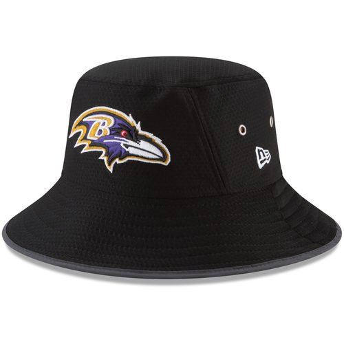 Baltimore Ravens Bucket (Baltimore Ravens New Era 2017 NFL Training Camp Official Bucket Hat - Black)