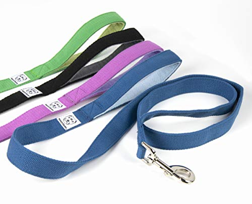 - Baloo's Chews Organic Hemp Leash with Soft Fleece Handle (Medium, Azure Blue/Sky Blue)
