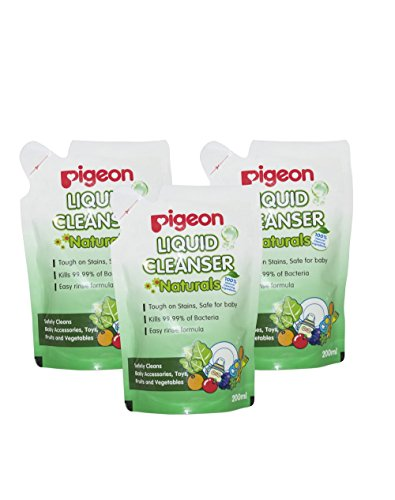 Pigeon Liquid Cleanser (200ml, Pack of 3) – 600 ml