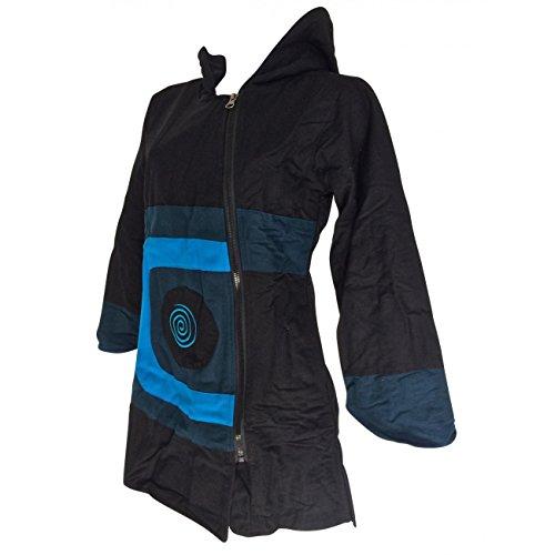Manteau Bleu ET r Ethnique Noir rCHUtwrq