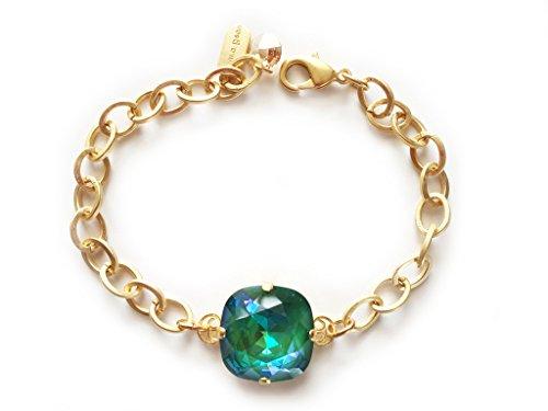 Clara Beau Gracefully Bold 18mm Swarovski crystal Bracelet BY70 GoldTone - UltraEM -