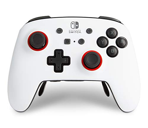 PowerA FUSION Pro Wireless Controller for Nintendo Switch - White/Black, Nintendo Switch Lite, gamepad, Bluetooth, online game controller, gaming controller, formally authorized