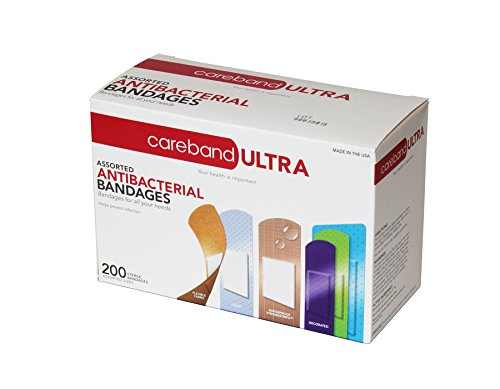 careband-ultra-62947-assorted-anti-bacterial-bandages-pack-of-200