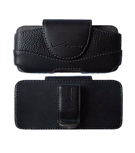 Verizon Wireless OEM Leather Case Belt Clip Holster Pouch for iPhone ()