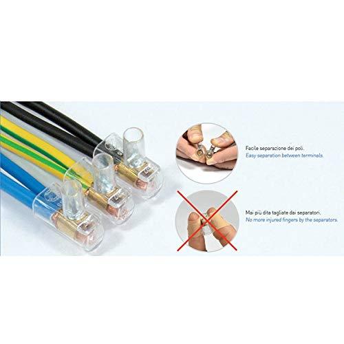 CONTACT ITALIA Morsetto Elettrico Trasparente Conc04 Forbox 1,5mmq 10pz