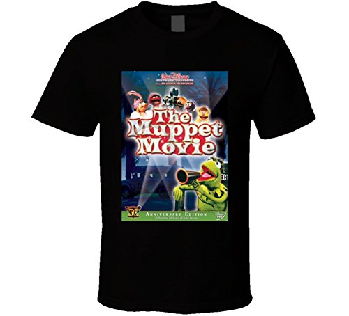 The Muppet Movie Cool 70's Comedy Vintage Classic Movie Poster Fan T Shirt L Black