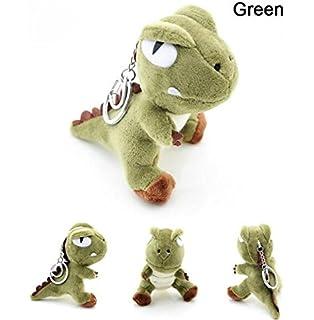 Interesting® Verde lindo 10 cm muñeco de peluche dinosaurio Animal Doll llaveros colgantes bolso unisex