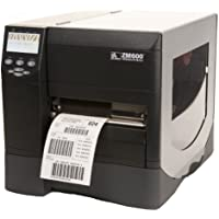 Zm600 bar code printer (300 dpi, zpl, standard flash, power cord with us plug and spindle out)