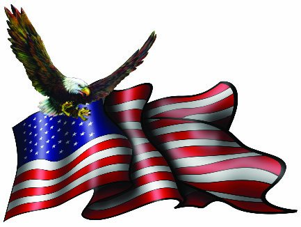 American Flag Soaring Eagle Decal 5 inch Free Shipping
