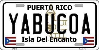 Rico Puerto Metal (Smart Blonde LP-2886 Yabucoa Puerto Rico Metal Novelty License Plate)