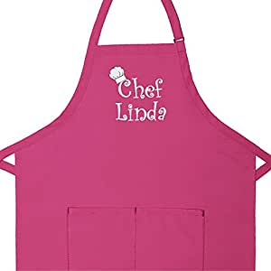 Amazon.com: Personalized Apron Embroidered Chef Any Name ...