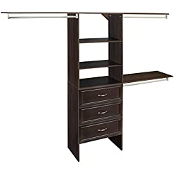 ClosetMaid 1932140 SuiteSymphony 25-Inch Closet Organizer with Shelves and 3-Drawers, Espresso
