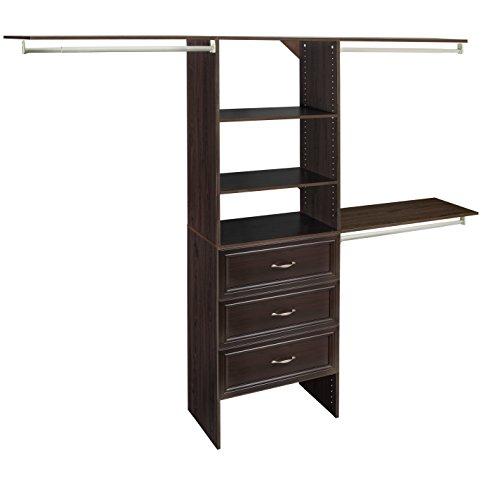ClosetMaid 1932140 SuiteSymphony 25-Inch Closet Organizer with Shelves and 3-Drawers, Espresso