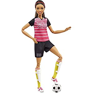 Barbie Careers Made to Move Soccer Player Doll - 41dVHIyF8ZL - Barbie  Made to Move Soccer Player Doll, Brunette