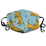 XPEACH Dachshund Washable Reusable Masks Respirator Comfy Protective Breath Healthy Safety Warm Windpro of Mask