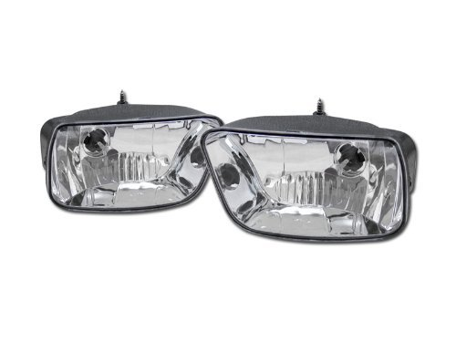 EURO CHROME CLEAR LENS FRONT BUMPER FOG LIGHTS LAMPS 02-09 CHEVY TRAILBLAZER SUV (Fog Clear Light Lamp Euro)