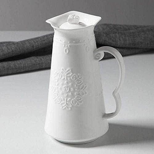 DGF-FF ハンドルピュアホワイトクラシックアフタヌーンティーミルクの瓶とレースのコーヒーポット