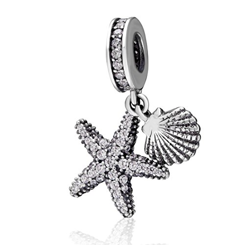 Starfish Charm Shell Charm Ocean Sea Charm Animal Charm Star Charm Anniversary Charm for Pandora Charms Bracelet ()