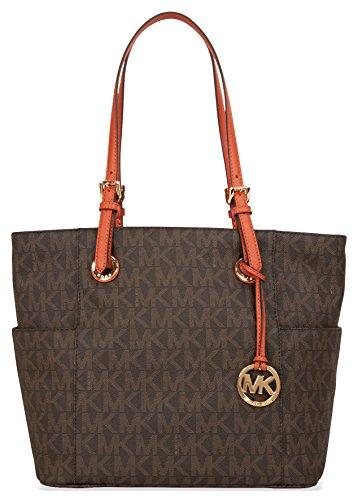 michael-michael-kors-jet-set-item-east-west-signature-tote-brown-orange-tote-handbags