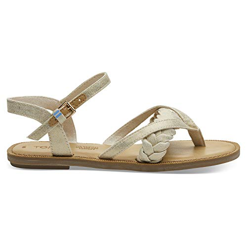 TOMS Natural Shimmer Canvas Women's Lexie Sandals (Size: 9)