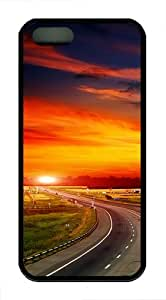 iPhone 5S Cases & Covers - The Way to Sunset TPU Silicone iPhone 5S/5 Case Back Cover - Black