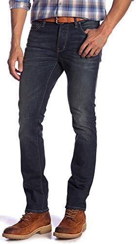 (John Varvatos Men's Wight Skinny Jeans Button Fly BLLN Denim Indigo 36)