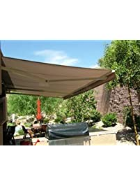ALEKO 13x10 Feet Retractable Awning, Sand Color (4m X 3m)