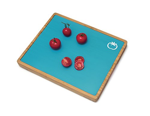 Lipper International 8869 Bamboo Wood Cutting Board with 6 Colored Poly Inlay Mats, 16'' x 13-1/8'' x 1-5/8'' by Lipper International (Image #4)