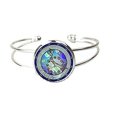 Vintage reloj pulsera de puño abierto reloj astronómico del zodiaco joyas horóscopo de astronomía en pulseras: Amazon.es: Joyería