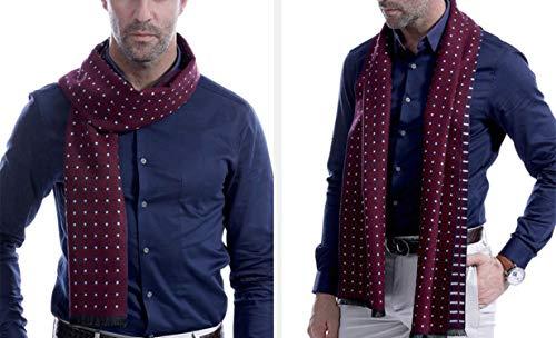 Cachemire Pour Rouge Hommes Amdxd Britannique Style Bleu Grille Automne Changer 180cm Écharpe Hiver dz7Afwxq