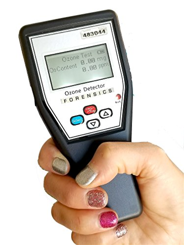 Basic Ozone O3 Detector & Meter by Forensics | Handheld with Rechargeable Li-Battery via Micro-USB | 0-5ppm with 0.01ppm Resolution with +/-5% F.S. Accuracy | Residential & Industrial use ()