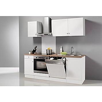 OPTIFIT Küchenzeile ohne E-Geräte »Bornholm«, Breite 210 cm weiß ...