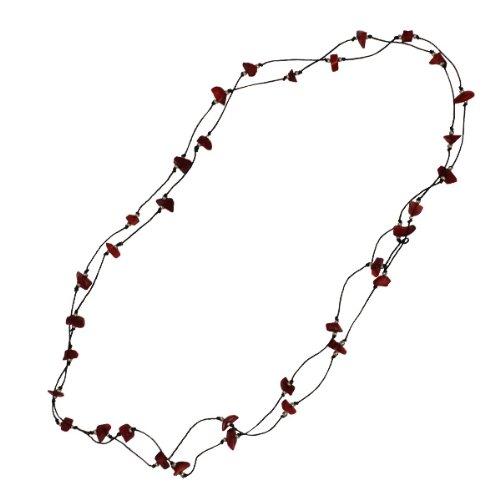 chic-net-cotton-warp-warp-black-cotton-red-coral-splitter-handgefadelt-137-cm-long