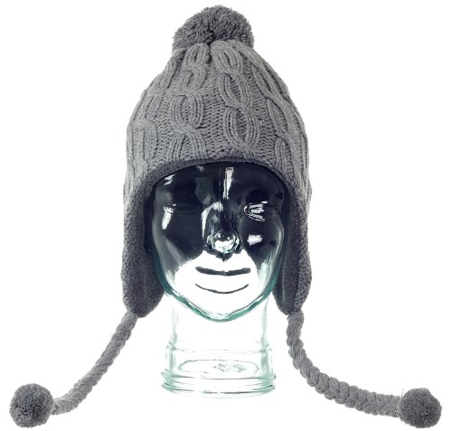 ce928236659 KitSound Audio Beanie Peruvian Cable Knit With Pom Poms for iPhone ...