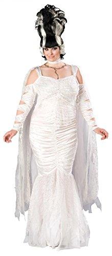 [Monster Bride Costume - Plus Size 3X - Dress Size 22-24] (Frankensteins Bride Costume)