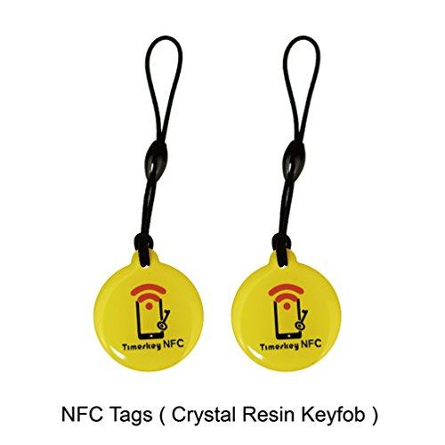 10PCS NFC Tag NTAG215 Keyfobs Crystal Resin Tag Compatible with