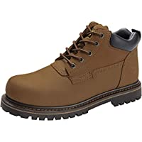 CAMEL CROWN Men's Boots Casual Leather Ankle Fashion Winter Soft Toe Waterproof Work Shoes Insulated Construction Rubber Sole