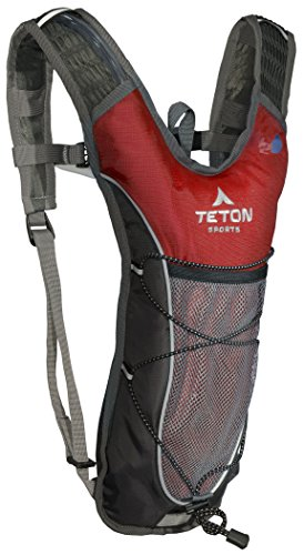 TETON Sports TrailRunner 2.0 Hydration Pack; Backpack for Hiking, Running and Cycling; Free 2-Liter Hydration Bladder 1 SATISFY YOUR THIRST FOR ADVENTURE: Lightweight and comfortable hydration backpack; This pack is a terrific companion to keep you hydrated while running, cycling, hiking or any adventure outdoors FREE HYDRATION BLADDER: BPA free, 2-Liter hydration bladder; Durable, kink-free sip tube and push-lock cushioned bite valve; Large 2-inch (5 cm) opening for ice and easy cleaning CUSTOMIZABLE COMFORT: Backpack for men, women, and youth; Adjusts to fit all frames; Comfortable mesh covered shoulder straps mean you can wear this pack for hours