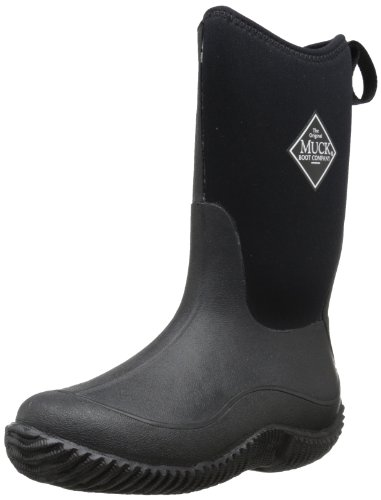 Muck Boots Hale Multi-Season Kids' Rubber Boot,Black/Black,4 M US Big Kid