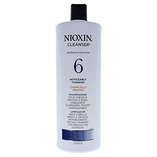 Nioxin Cleanser, System 6 (Medium to Coarse/Noticeably Thinning/Natural or Chemically-treated), 33.8 Ounce