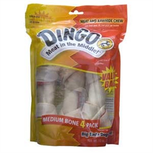 Dingo Knotted Bone Value Pack Med 4/Pk, My Pet Supplies
