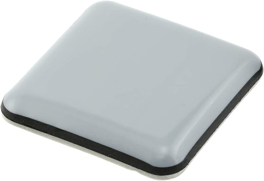 1-3/4 in. Square Sliders, Black and Gray Plastic (4-Pack)